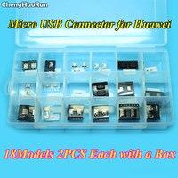 Chenghaoran 18 моделей 36 шт. Micro USB адаптер 5pin 7pin разъем USB для Huawei C8650 A298t A765e P6 P7 p9 Honor 6 Nexus 6 P