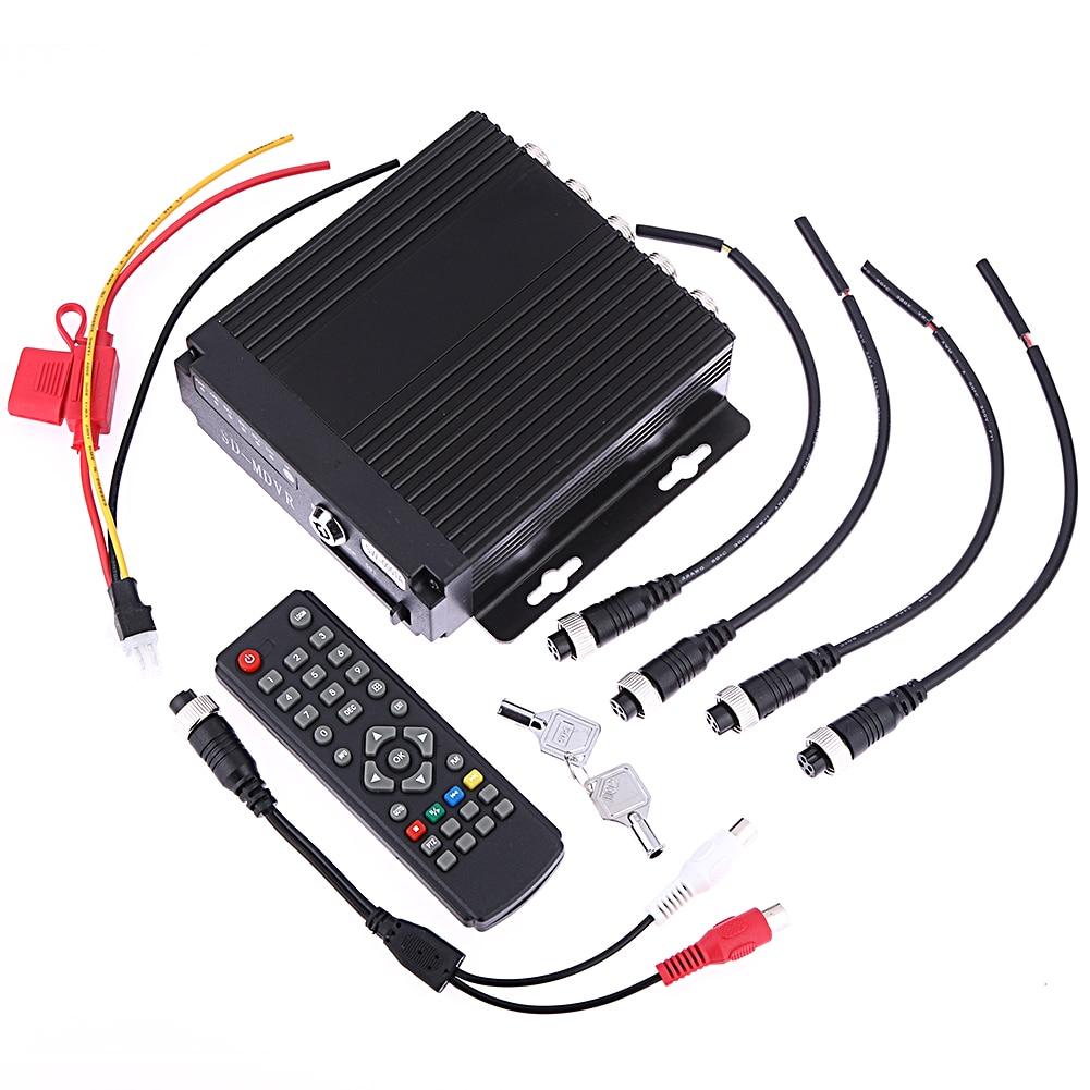 SW-0001A Remote Control Car Bus RV Mobile HD 4CH DVR Realtime Video/Audio Recorder