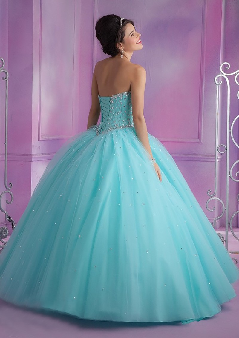 0d119f9f6d Ball Gown With Jacket Pink Quinceanera Dress Sweetheart Shiny Beading  Beautiful Blue Dress for 15 Years on Aliexpress.com