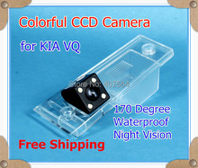 HD CCD with 4 LEDs Car parking reverse rear view camera for KIA VQ 2011~ waterproof 170 Degree night vision