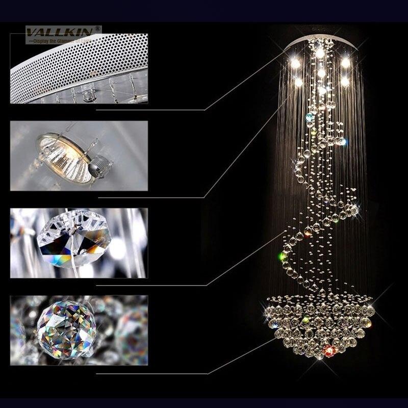LED բյուրեղապակի ջահեր լուսավորող շքեղ - Ներքին լուսավորություն - Լուսանկար 4