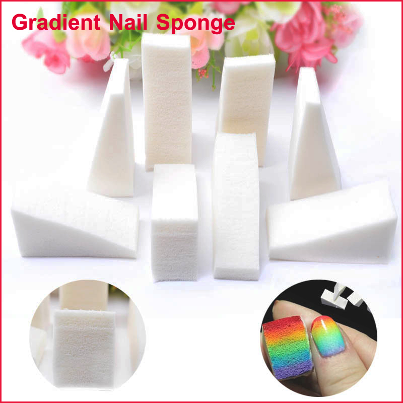8pcs Pack White Nail Decoration Triangle Tools Cute Grant Sponges Beauty Manicure Set In Hair Clips Pins From Health On