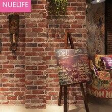 0.53×10 Meter Retro Nostalgic 3D Stereo Brick Wallpaper Cafe Bar Restaurant Culture Stone Red Brick Wallpaper