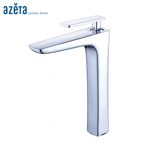 Chrome Bathroom Tall Basin Mixer Tap Single Handle Brass Material Lavatory Deck Mounted Washbasin Basin Faucet AT4206H