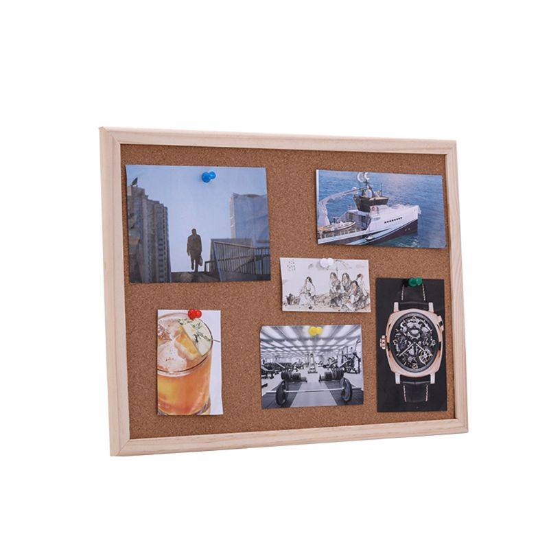 40x60cm Cork Board Drawing Board Pine Wood Frame White Boards Home Office Decorative 3
