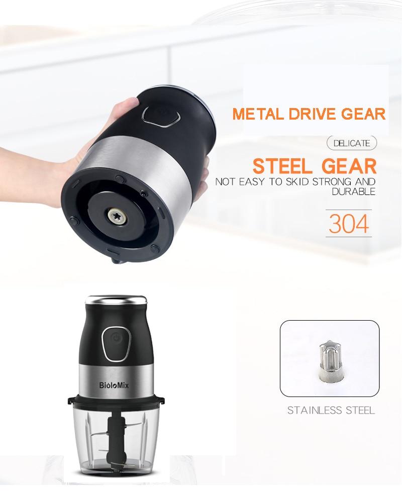 BPA FREE 500W Portable Personal Blender Mixer Food Processor With Chopper Bowl 600ml Juicer Bottle Meat Grinder Baby Food Maker