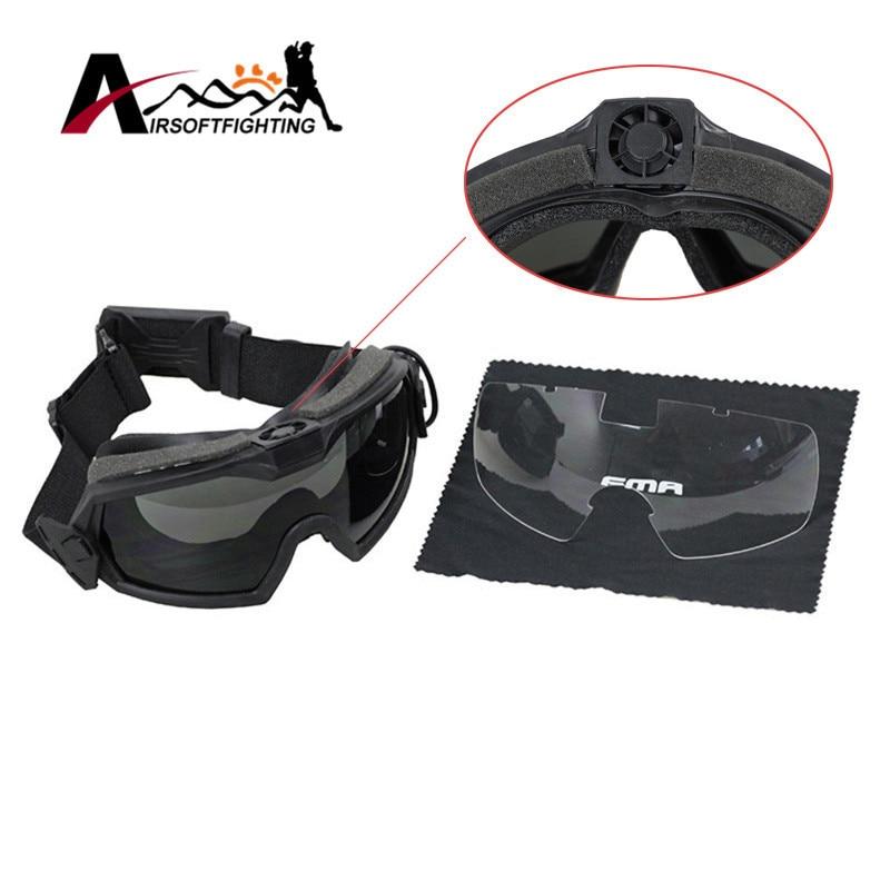 TB FMA LPG01BK12-2R Regulator Goggle W/Fan(Top) Or SI-Ballistic-Goggle W/ Fan(Side) Tactical Hunting Skiing Protective Eyewear