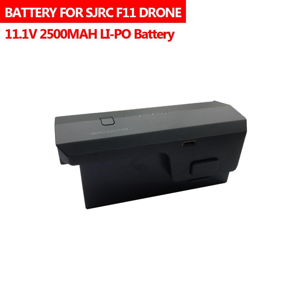 11,1 V 2500mAh Lipo batería para SJR/C/SJRC F11 Drone RC Quadcopter piezas de repuesto accesorios SJRC F11 de la batería