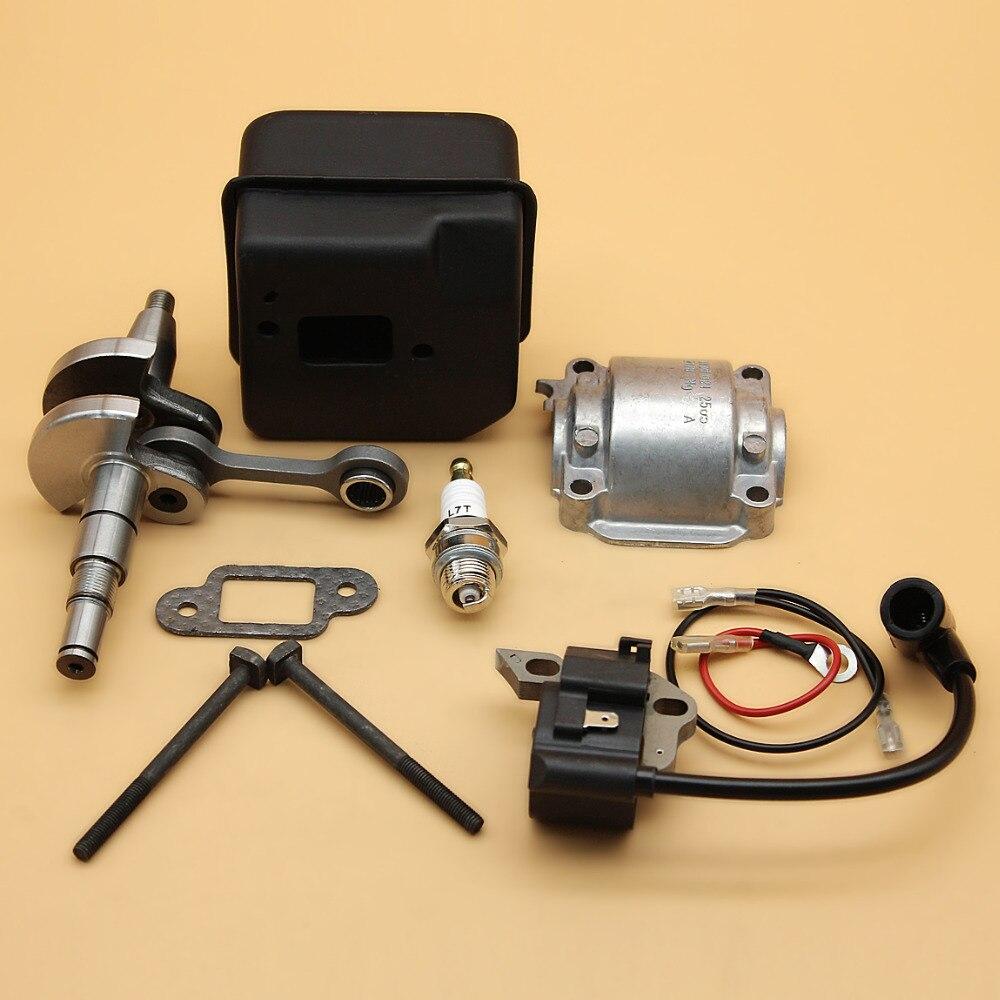Crankshaft Muffler Exhaust Ignition Coil Engine Pan Base Kit Fit STIHL 018 MS180 MS 180 Chainsaw Parts Fit 10mm Piston Pin бензопила stihl ms 180 14