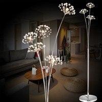 Modern Simple LED Floor Lamp Living Room Bedroom Crystal lamp Wedding Dress Shop Floor Lamp Study Dandelion Light Free Shipping