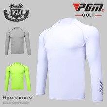 PGM одежда для гольфа мужские футболки для гольфа летняя Солнцезащитная дышащая майка мужская футболка с длинными рукавами Размер m-xxl