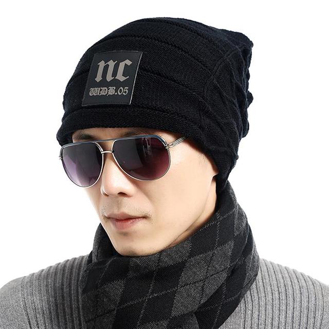 Casquillo macho de Los Hombres Beanie Caps Niños Sombreros de Invierno Para Hombre de Punto gorros Sombrero Hueso Gorras de Rayas Capó Gorra de Color Puro Del Hombre Y mujeres