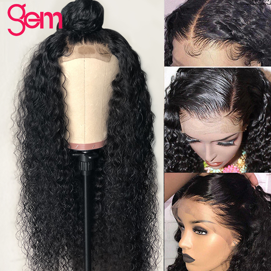 Peruvian Curly Human Hair Wig Glueless 13x4 Lace Front Human Hair Wig With Baby Hair Pre