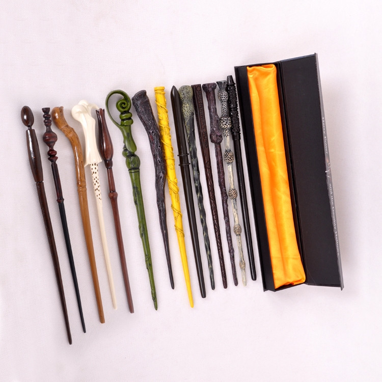 Package with original box Quality Cosplay Hogwarts Dumbledore Mediumistic Magical Wand for Harri Potter Cosplay