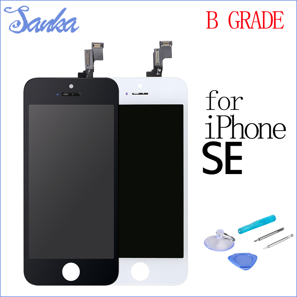 SANKA B Grade ForiPhone SE 5SE LCD Display Digitizer Touch Screen Assembly LCD Screen Mobile Phone Parts White Black