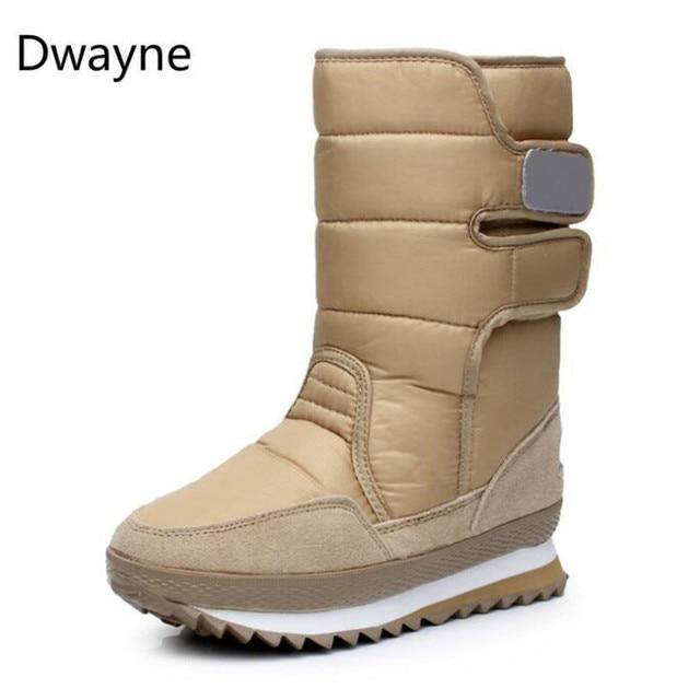 Dwayne kadın snowboots su geçirmez sıcak peluş çizmeler kaymaz kar botları Botas de mujer Botaş de invierno de mujer artı boyutu