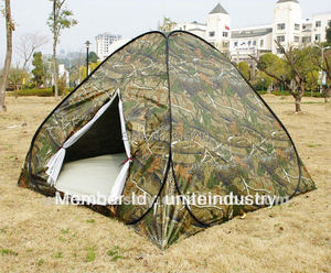 3-4persons pop up tent in low price for outdoor travel camping two camouflage color fold in a round carry bag easy carry