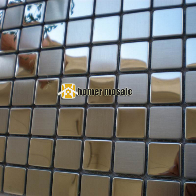 Platz sparkly edelstahl metall mosaik küche backsplash metall mosaik ...