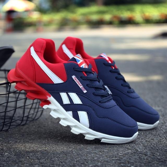 667b647a8 Homem Sneakers 2019 Tênis de corrida Para Homens Adultos Trending Estilo  Calçados Esportivos Respirável Formadores Zapatillas