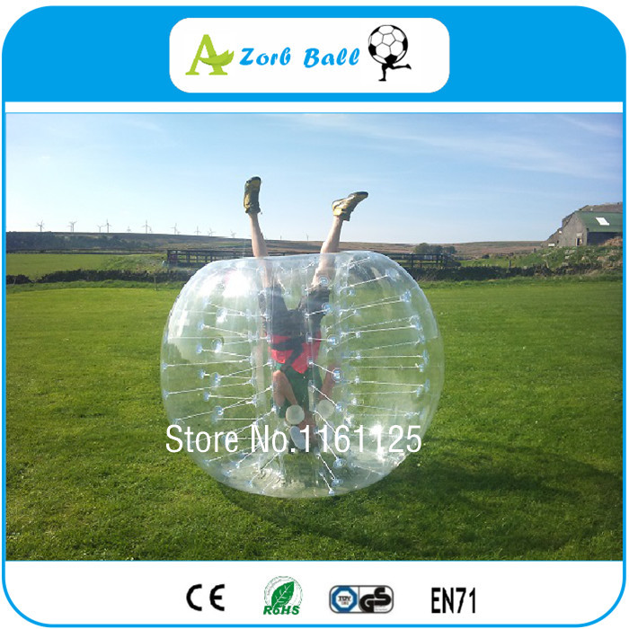 Top Quality For Team Building Games Products 6pcs+1Blower 1.5m1.0mm TPU Inflatable Bumper Ball, Bubble Soccer,Zorb Body For Sale