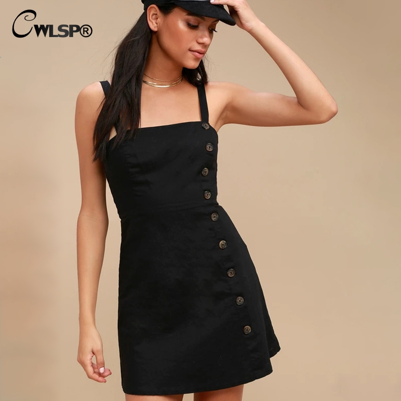 Detail Feedback Questions About Cwlsp Summer Black Tie Up Back Women