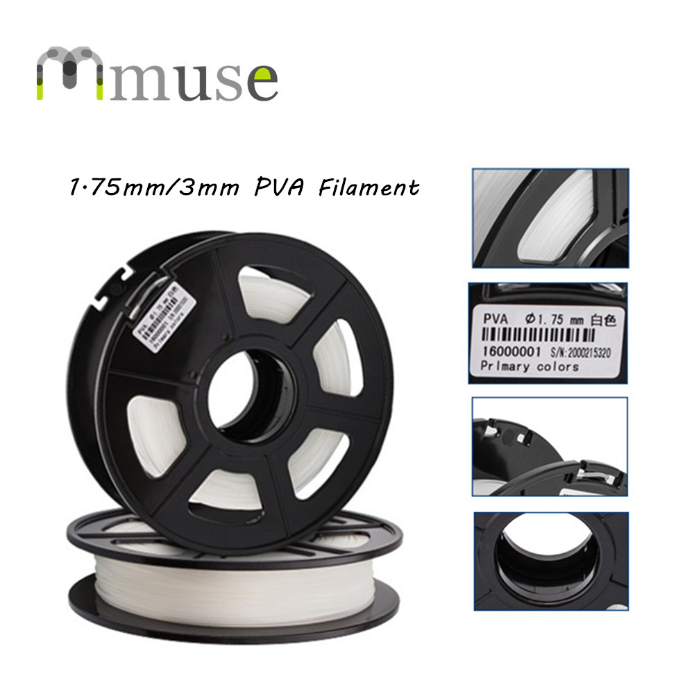 0.5kg/Spool 1.75mm 3mm Water Soluble PVA Filament For 3D Printer ppyy new 2pcs high quality 3mm white pva dissolvable 3d printer filament 60m 0 5kg 1 1lbs 30 60mm s include spool and leathe