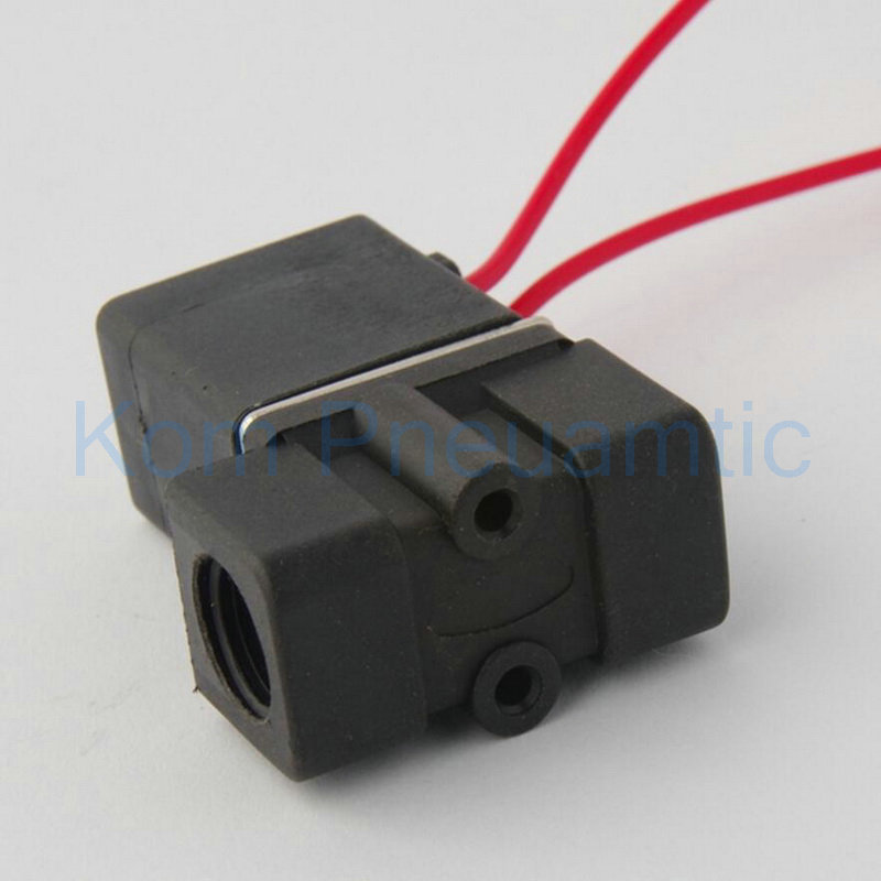 Wholesale 2 2 Plastic Solenoid Valve w Lead Wire 12V 24V 110V 220V Water Air Oil aliexpress com buy wholesale 2 2 plastic solenoid valve w lead airtac 4v210-08 wiring diagram at crackthecode.co
