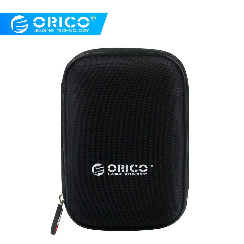 ORICO 2.5 inch Draagbare Harde Schijf Bescherming Tas Pouch Cover Dual Layer Buffer Oortelefoon Hoofdtelefoon Protector Case