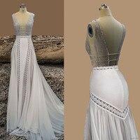 Beach Wedding Dresses Sexy Chiffon A Line Vintage Boho Cheap Bridal Gowns Vestidos De Novia Robe De Mariage Bridal Gown in stock