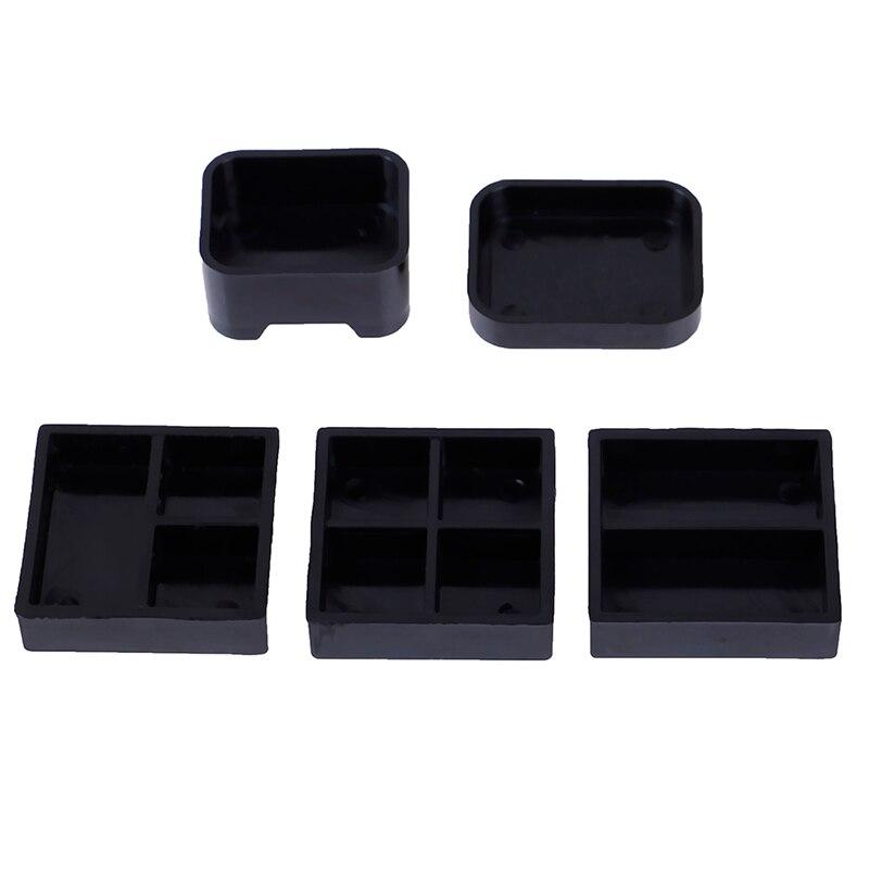 5pcs//set 1:12 balck dollhouse plastic lunch-box miniature accessoriYF