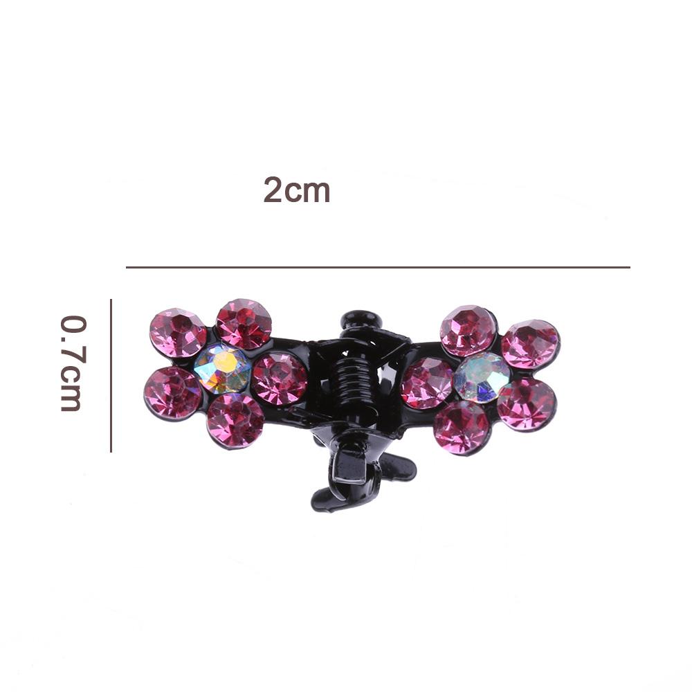 HTB17pVnQVXXXXcLaXXXq6xXFXXXm Bejeweled 12-Pieces Rhinestone Crystal Flower Mini Barrette Hair Claw For Women - 7 Colors