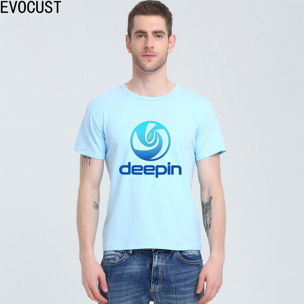 Deepin linux T-shirt Top Lycra Cotton Men T shirt