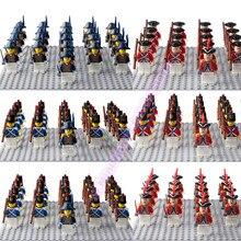 LegoING ejército marina cuerpo minifigurado Imperial real guardias con arma Playmobil bloques de construcción niños regalo Juguetes