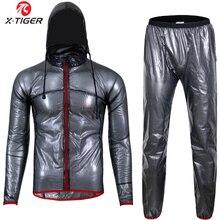 X TIGERT qualidade superior ciclismo capa de chuva camisa ciclismo windcoat mtb bicicleta roupas à prova drainágua