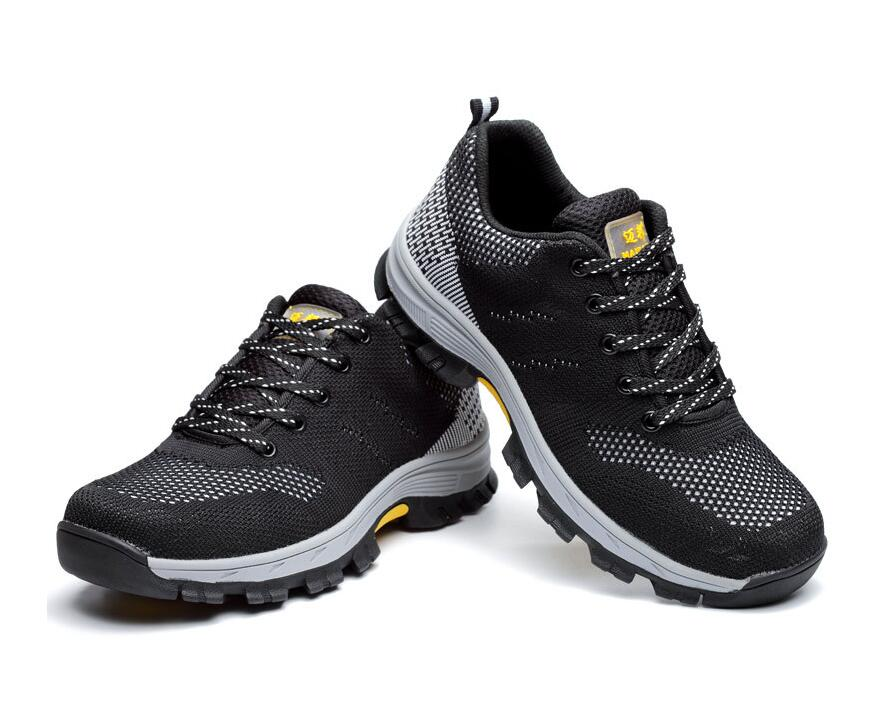Flying woven air permeable shoes-TX-, anti break, puncture proof safety shoes, mountaineering protective shoes