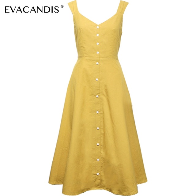 Backless V Neck Yellow Linen Dress Elegant Spaghetti Strap Korean Tunic Cotton Bow Vintage Long Beach Summer Dress Women Vestido