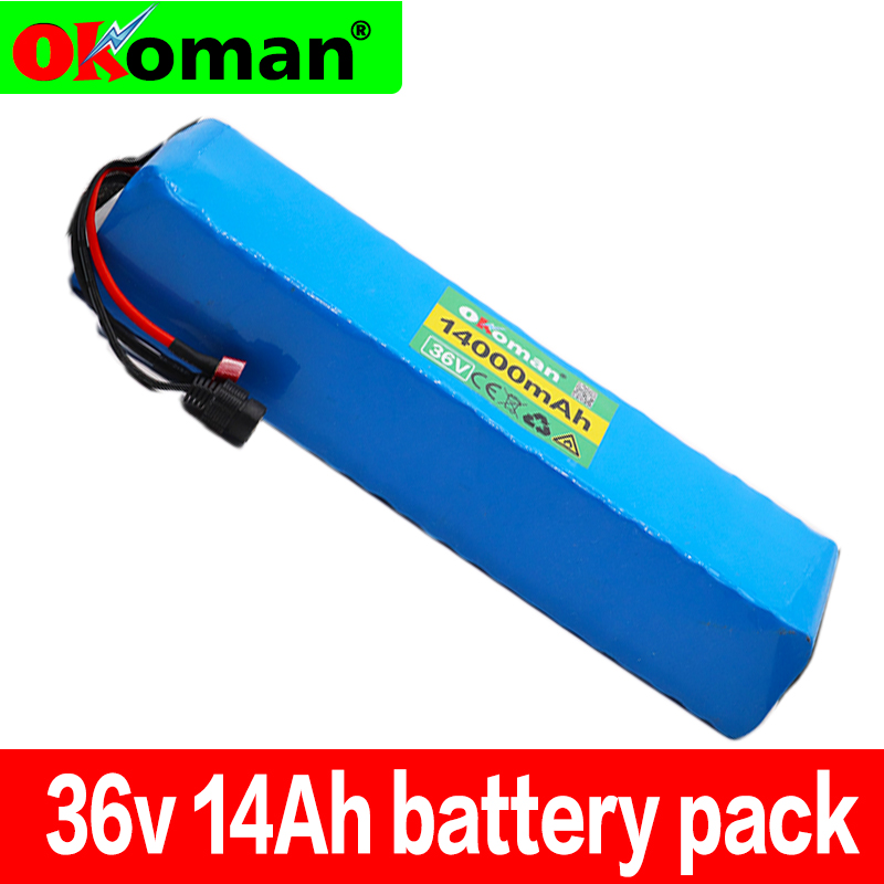 10S4P 36V 14Ah 18650 lithium ion battery pack 42v with 20A BMS For ebike electric car bicycle motor scooter
