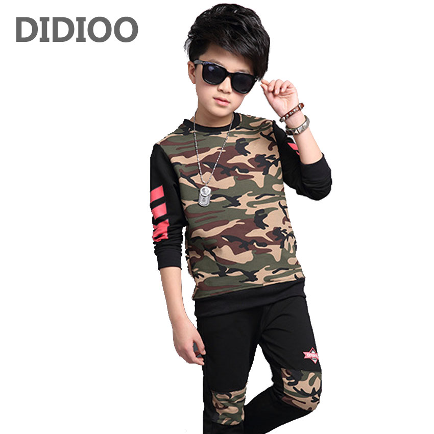 DIDIOO Children Sports Suits Autumn Kids Years