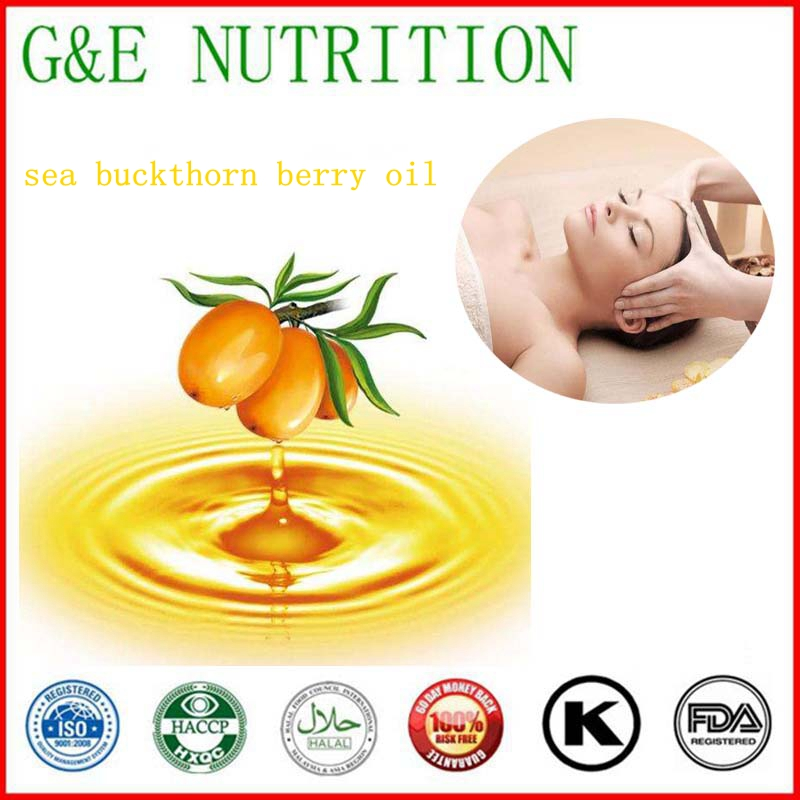 100% Natural& Pure Health care Sea buckthorn Berry Oil with free shipping, lower blood pressure oil pulling for oral health