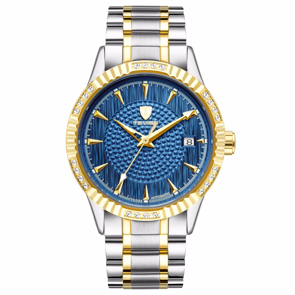 TEVISE Automatic Mechanical Watch Men Luxury Brand Mens Watches Waterproof Wristwatches relogio masculino tevise fashion mechanical watches stainless steel band wristwatches men luxury brand watch waterproof gold silver man clock gift