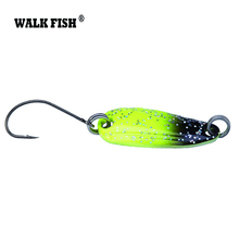 Walk Fish 4Pcs/Lot 2.8cm 2.5g Metal Spinner Spoon Fishing Lure Hard Baits Sequins Noise Paillette with VMC Hook Tackle HH012
