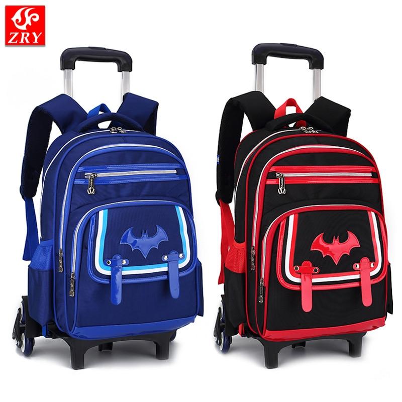 Trolley School Bags for Boys Mochila Infantil Com Rodinha Student Bookbags Bolsa Escolar Children Backpacks with Wheels Bagpack стоимость