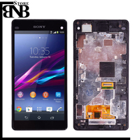 Original For SONY Xperia Z1 Compact mini LCD Display Touch Screen with Frame For SONY Xperia Z1 mini Compact LCD D5503 M51W