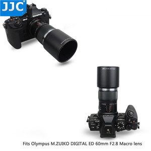 Image 3 - JJC ABS adanmış Lens Hood gölge koruyucu Olympus M.ZUIKO dijital ED 60mm f2.8 makro Lens yerine Olympus LH 49 siyah