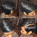 Peruvian full lace hair wig Human Full Lace Front Bob hair None Lace Wig Short human Pixie Cut hair wig For Black Women
