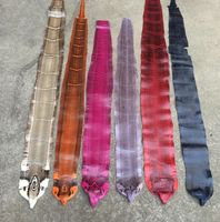 Dye Genuine Snake Skin Leather Raw Material Whole Piece