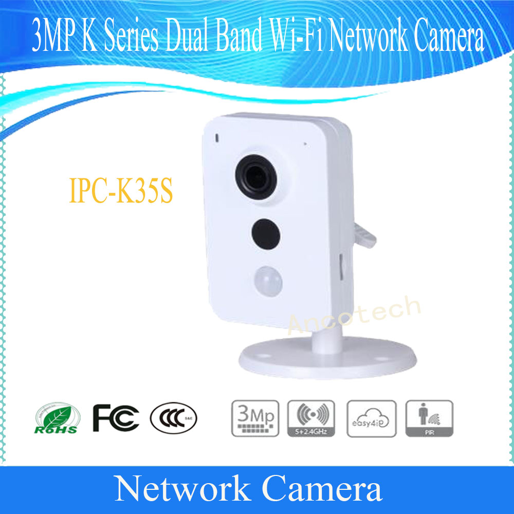 Free Shipping DAHUA Security WIFI Camera CCTV 3MP K Series Dual Band Wi-Fi Network Camera without Logo IPC-K35S tp link wifi router wdr6500 gigabit wi fi repeater 1300mbs 11ac dual band wireless 2 4ghz 5ghz 802 11ac
