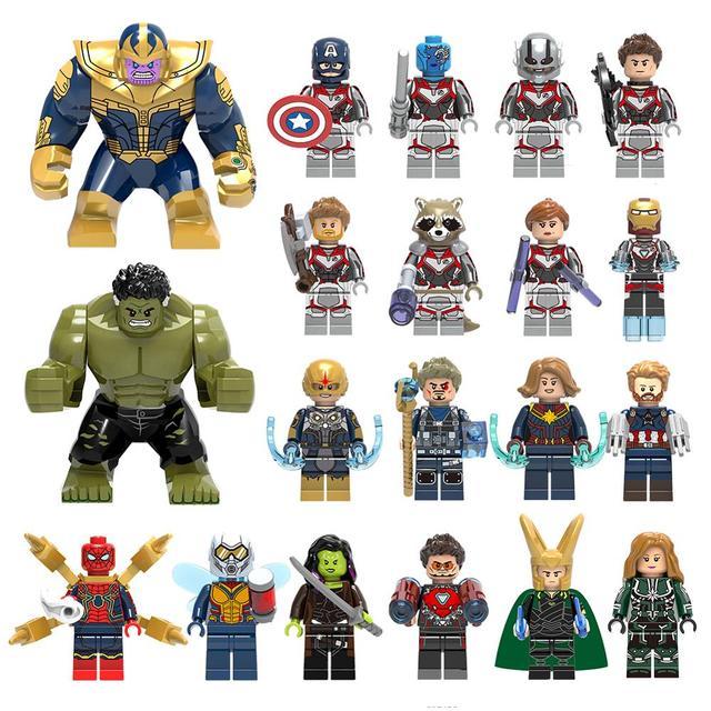 Endgame Legoings Grande Groot Figuras de Super Heróis Vingadores Capitão vingadores Marvel Spiderman Building Blocks Brinquedos Para Crianças