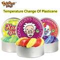 El cambio de temperatura de la goma de la mano creativa inteligente gira el Color Slime Silly Putty light arcilla Fimo Plasticine Mud Doh juguetes niños regalo