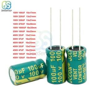 100 в 250 В 400 в 450 в алюминиевый электролитический конденсатор 22 мкФ 47 мкФ 68 мкФ 100 мкФ 120 мкФ 220 мкФ Ф 330 мкФ Ф 470 мкФ 1000 мкФ